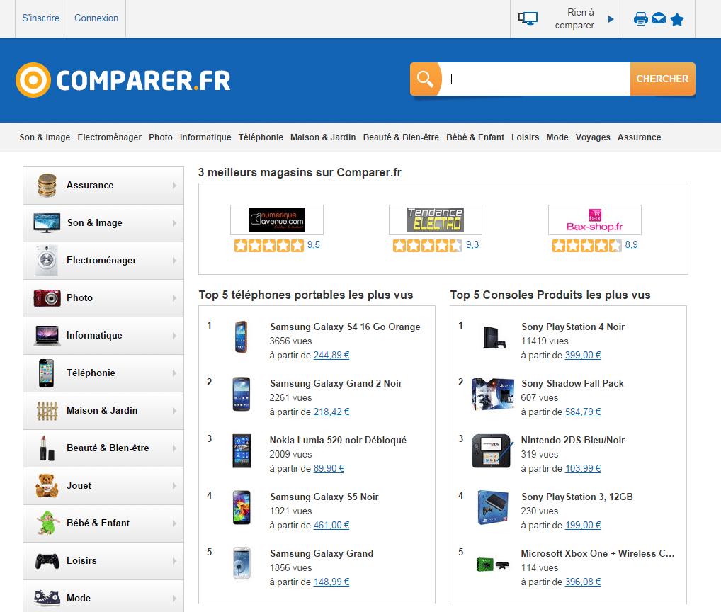 vendre sur COMPARER.FR.
