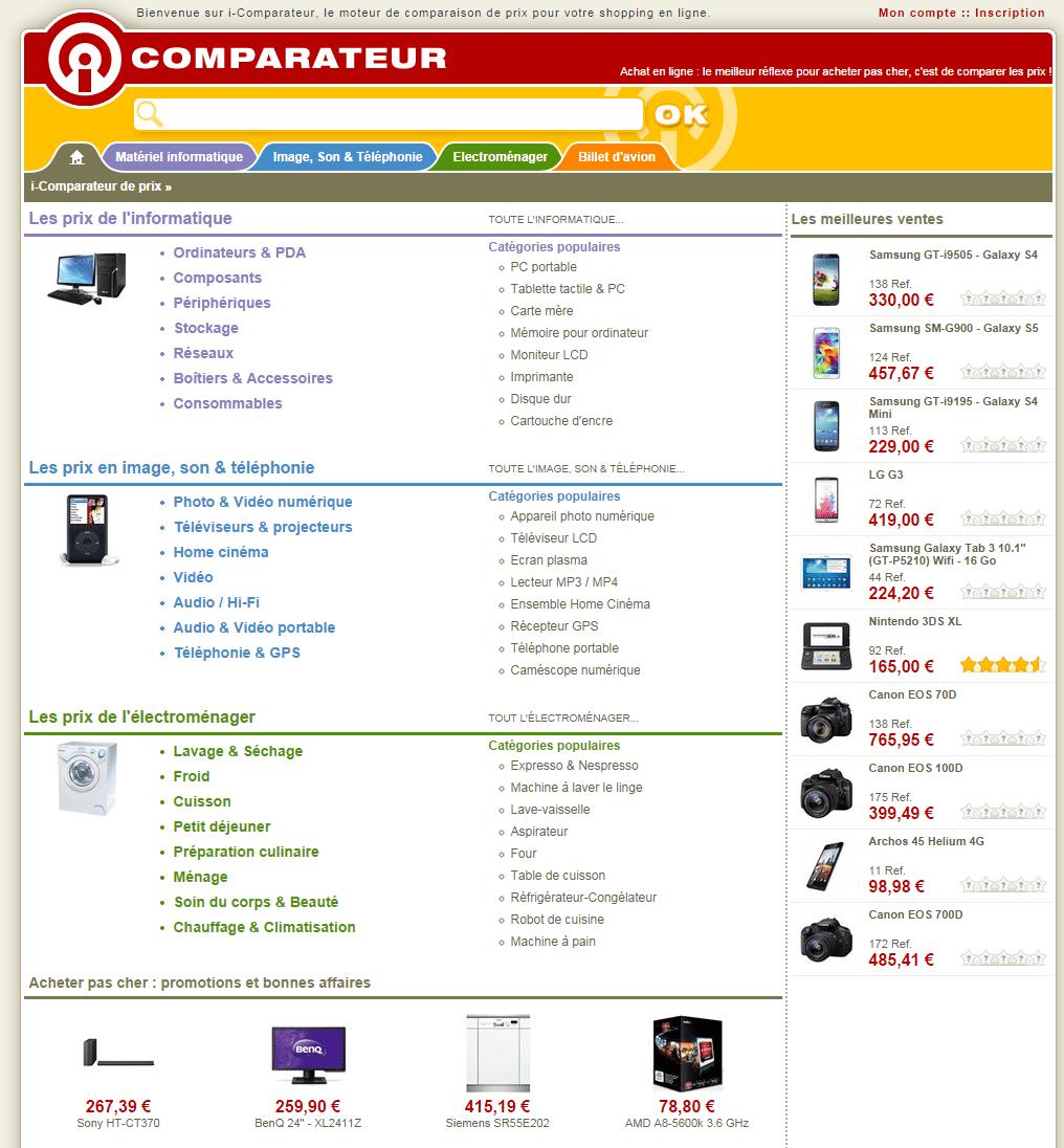 vendre sur i Comparateur de prix