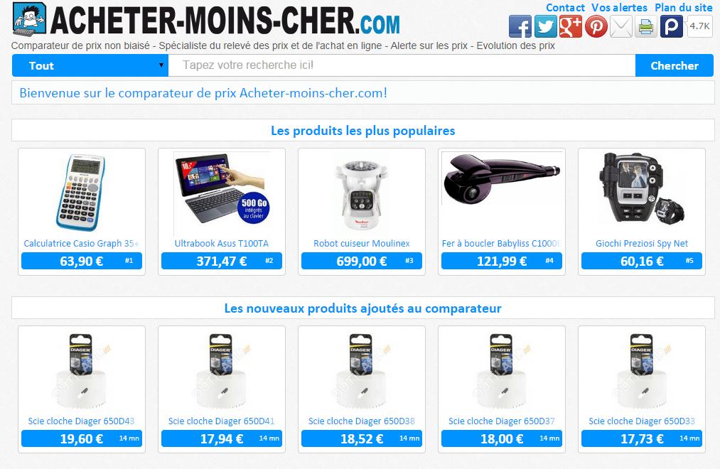 vendre sur Acheter moins cher