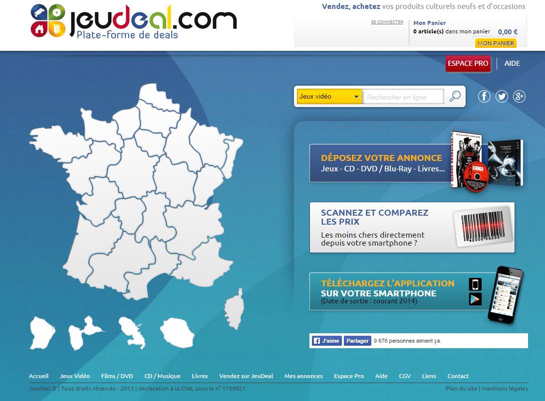 export catalogue produit Jeudeal